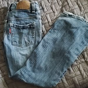 Levi blue jean stretch and flare 7
